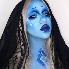 how to do eyeliner Scary Makeup, Sfx Makeup, Makeup Art, Beauty Makeup, Makeup Looks, Fete Halloween, Halloween Makeup, Makeup Inspo, Makeup Inspiration