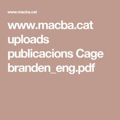 Chance, Indeterminacy, Multiplicity. Experimentations, John Cage in Music, Art, and Architecture. Branden W. Joseph www.macba.cat uploads publicacions Cage  branden_eng.pdf
