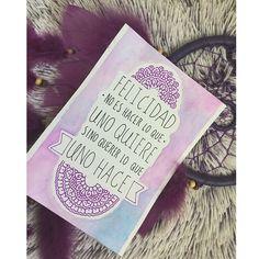 Espero les guste! #zentangleconmigo #dibujandoconmariann #colors #notes #cuotes #fraseslindas #purple #acuarelas #mandalas #mandalaart #mandalaartist