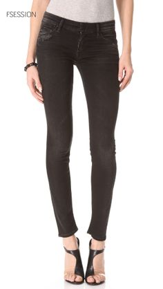 The Looker Skinny Jeans, MOTHER at http://www.fsession.com/  Price: $132.00 MOTHER deconstructs their signature 5-pocket skinny jeans with shredded holes, heavy whiskering, and worn edges. Button closure and zip fly. at http://tllg.net/i0vs