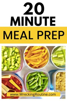 Make meal prepping fast. How to achieve meal prep in only 20 minutes. Healthy meal prep for a week of success. Achieve your health goals with meal prepping. Save money with meal prep. #mealprep #mealpreptips #wreckingroutine Easy Meal Prep, Healthy Meal Prep, How To Get Healthy, Easy Weight Loss, Lose Weight, Healthy Freezer Meals, Free Meal Plans, Health Programs, How To Cook Rice