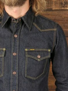 Iron Heart 17oz Selvedge Shirt Denim Boots, Denim Jacket Men, Denim Shirt, Shirt Jacket, Denim Jeans, Flannel Shirt Outfit, Denim Outfit, Workwear Fashion, Denim Fashion