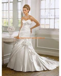 Sexy Brautkleider 2013 im Meerjungfrauenstil aus Satin online kaufen