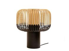 Buy the Table lamp Bamboo Light from Forestier, on Made in Design - 48 to 72 hours delivery. Bamboo Bamboo, Bamboo Light, Painted Bamboo, Bamboo Floor, Hand Painted, Luminaire Design, Lamp Design, Home Deco, Luminaire Original