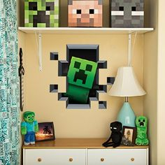 Minecraft Wall Clings (Creeper Inside) JINX http://smile.amazon.com/dp/B00LWDD0AQ/ref=cm_sw_r_pi_dp_mkAkwb0TZ8K97