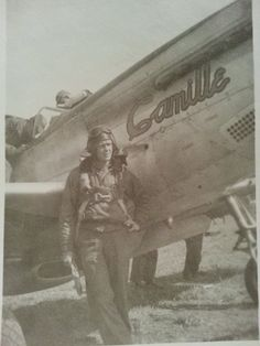 Mustangs of the 9th air force. My grandfather took this picture.I don't any thing about the pilots  or planes any info would be great.