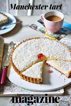 Manchester tart- Manchester tart A staple on school dinner menus until the Manchester tart is a variation on an earlier recipe by the Victorian cookery writer Mrs Beeton. If you prefer, you can use a block of dessert shortcrust pastry - Pastry Recipes, Baking Recipes, Cake Recipes, Dessert Recipes, Dessert Tarts, Pastry Dishes, Tray Bake Recipes, Baking Desserts, Sweet Pie