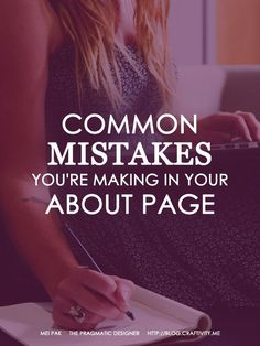 Common Mistakes You're Making in Your About Page (scheduled via http://www.tailwindapp.com?utm_source=pinterest&utm_medium=twpin&utm_content=post26504786&utm_campaign=scheduler_attribution)