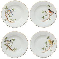 Herend Songbird Dessert Plates
