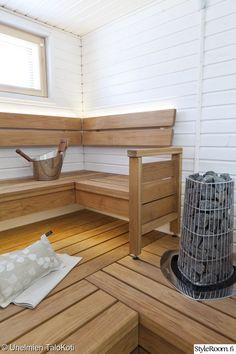 Saunas, Scandinavian Bathroom, Spa Rooms, Little Italy, Corner Desk, Relax, Beach House, Interior Design, Sauna Design