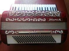 Accordeon Horch De Luxe, 120 Bass,14 Registers, German Piano Accordion ,Germany #Horch
