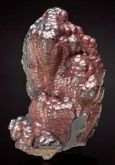 Super shiny botryoidal surfaces of reddish-brown Hematite