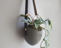 Add some vertical greenery to any wall in your home with our handmade ceramic planter. Curate your own organic installation, grow an herb garden