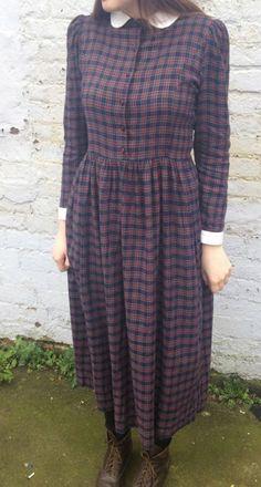 Tartan Laura Ashley dress vintage