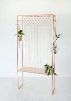 11 Ways To Elevate Your Houseplants | for the dedicated green-fingered plant lovers amongst you. As you can basically create a whole indoor jungalow party area in your home with this unique display bench. #houseplants #planters #display #houseplantbench #homedecor #interiors #houseplantideas