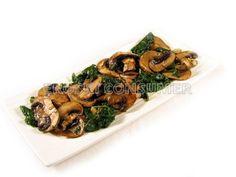 Receta de champiñones salteados con espinacas | EROSKI CONSUMER