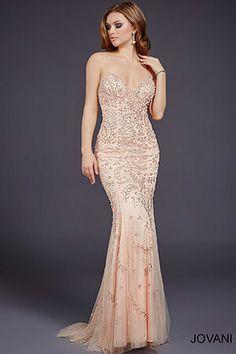 Blush Beaded #Prom #Dress 33704