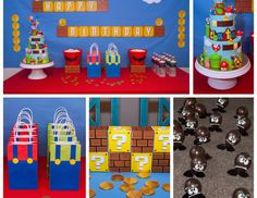 "Super Mario Bros / Birthday ""Super Mario Bros 5th Birthday Party"" 