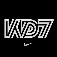 We worked with Nike to develop this logo mark launching Kevin Durant's seventh signature shoe, KD7. #nike #basketball #nba #kevindurant #logo #identity #typography #jordan #madebysawdust
