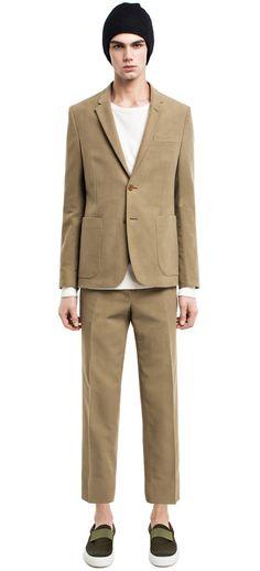 Stan moleskin khaki jacket #AcneStudios #menswear #PreFall2014