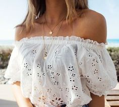summer style off the shoulder