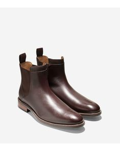 • $250 • WATER RESIST • Cole Haan | Brown Warren Water-Resistant Leather Chelsea Boots for Men | Lyst