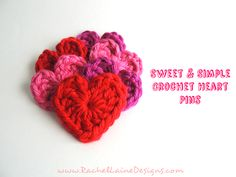 Rachel Laine Designs – Colorful Crochet, Crafts, and all things Creative :) Crochet Crafts, Easy Crochet, Knit Crochet, Yarn Projects, Crochet Projects, Valentines Day Baby, Diy Cushion, Knitting Ideas, Baby Hats