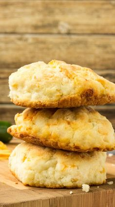 Cheddar Jalapeno Cornbread Biscuits are crusty and spicy, a classic biscuit, but better!