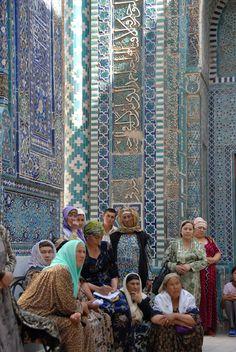 Shaki-Zinda Necropolis in Samarkand, Uzbekistan