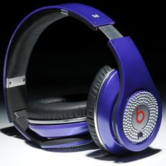 Casque Beats by Dr. Dre Studio de Monster Diamant Blanc Deep Purple Pas Cher - Boutique Antorn En Ligne