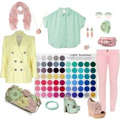 Light Summer by lizzycb on Polyvore featuring mode, Monki, Yves Saint Laurent, Current/Elliott, Gianvito Rossi, Rochas, Valentino, Sprout Watches, Cathy Waterman and Mulberry