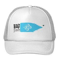 #fishing - #Big Fish Small Fishes Funny Minimal Trucker Hat