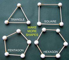 Marshmallow/toothpick geometry