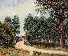 The Path from Saint Mammes, Morning - Alfred Sisley