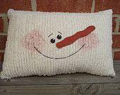 Chenille Snowman Pillow. $14.99, via Etsy.