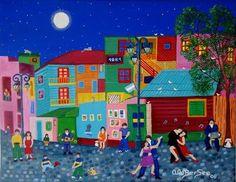 Art Naif- Dancing in the streets! Art Haïtien, Haitian Art, Art Populaire, Colorful Paintings, Naive Art, Small Art, Artist Gallery, Color Of Life, Scrapbook