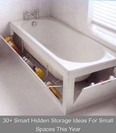 30+ Smart Hidden Storage Ideas For Small Spaces This Year {4149} #hidden #storage #hiddenstorage Awesome 30+ Smart Hidden Storage Ideas For Small Spaces This Year Small Bedroom Storage, Small Space Storage, Hidden Storage, Small Shelves, Diy Bathroom, Modern Master Bathroom, Small Bathroom, Bathroom Ideas, Diy Kitchen Storage