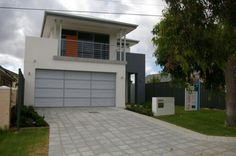 The Fusion in the flesh www.NarrowLotHomes.com.au Types Of Houses, Perth, Custom Design, The Unit, Garage Doors, Carriage Doors
