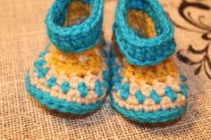 Baby Crocheted Booties Moccassins by BlossomCountry on Etsy
