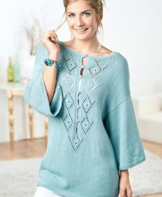 Lace Tunic - free knitting pattern download from Let's Knit!