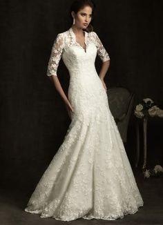 560e864fd6d New White Ivory Wedding Dresses Half Sleeve Bridal Gown custom size 2-22+