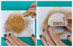 DIY :: Gilded Thank You Cards