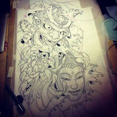 homework#lonientatto #ollilonien #irezumi #japanese #japanesewaves #buddhism #japanesecollective Foo Dog Tattoo Design, Japan Tattoo Design, Koi Tattoo Design, Tattoo Designs, Dragon Tattoo Back Piece, Dragon Sleeve Tattoos, Hannya Tattoo, Irezumi Tattoos, Frog Tattoos