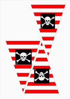 PARTY HANDMADE: PLANEANDO FIESTA PRINCESAS Y PIRATAS.... Deco Pirate, Pirate Boy, Pirate Theme, Pirate Birthday, Third Birthday, Pirate Crafts, Shark Party, Party Decoration, Happy B Day