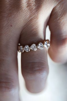 The Abundant Heart Diamond Bezel Eternity Ring is the perfect reminder of never-ending love. Stack her with a white diamond Twinkle Band for a unique bridal or everyday stack.