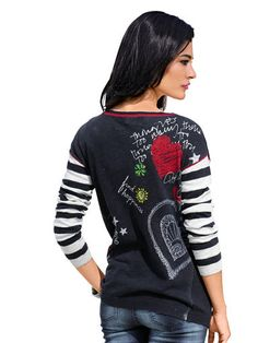 Alba Moda Green Pullover Alba Moda, Graphic Sweatshirt, T Shirt, Elegant, Christmas Sweaters, Bomber Jacket, Sweatshirts, Long Sleeve, Sleeves