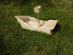 Craft Stick Pirate Ship #1