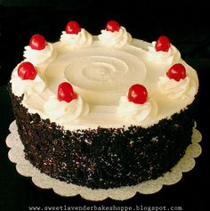 Sweet Lavender Bake Shoppe: black forest cake + cupcakes...