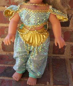 My Disney Girl Doll Jasmine Princess Outfit Costume fits American Girl HTF American Dolls, American Girl, Disney Jasmine, Princess Outfits, Fantasy Dress, Disney Girls, Girl Costumes, Traditional Dresses, Girl Dolls