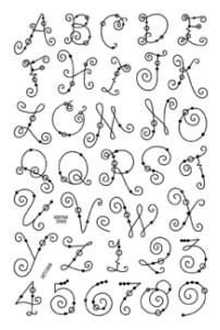 Stampendous Perfectly Clear Stamp - Wire Alphabet Upper Case
